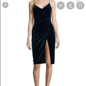Black Halo Bowery velvet cocktail dress size 2